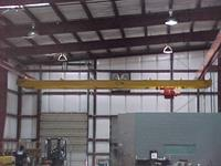 Typical 10 Ton patented track crane with runway.